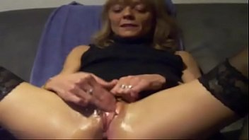 insertion pantyhose through Granny squirt fucking guy