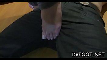 feet whip lick Girl belly bloat