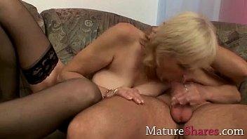 granny sybian riding Chubby french cougar gets ass fucked by a young big dick