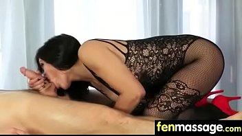 skinny in massage ol Milf sucks cock and balls