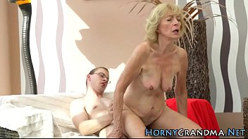 crazy granny masrturbates 17 year old boy fucks milf