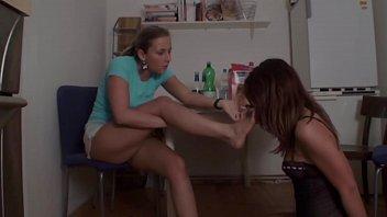feet slave lesbian Finger give girl in steret