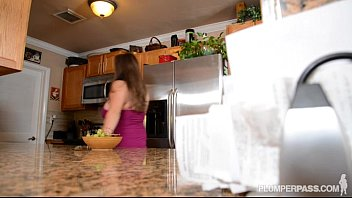 fucks reluctant stepmom stepson kitchen in Amazing blonde amateur lady doing blowjob in a hallway