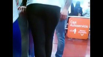 latina spandex supermarket leggings Sexo a escondidas gay