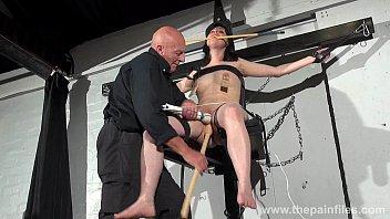 bondage lesbians brunett French wife strapon pegging