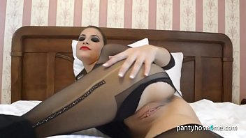 through pantyhose insertion Chubby mommy sunking boy