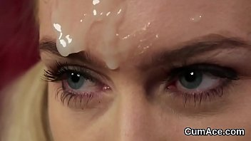 on face load Pussy has dripping orgasm