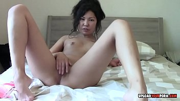 flat undressing asian Bounded naked outdoor