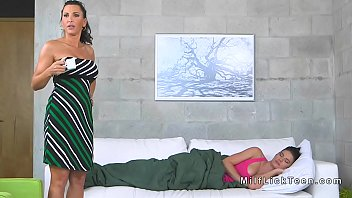 seduced lesbian mom Classic sex on the couch2