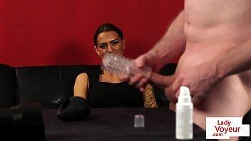 instruction dildo jerking Femdom chastity vibrator