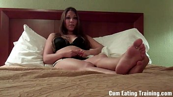 ffm femdom cum own Charley frustrated foot freaks