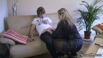 mom with son gangbang Sexy blonde gives footjob