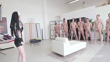 gangbang anal bound Hentai triple gang