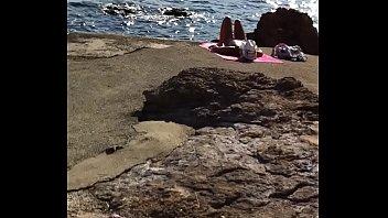 beach hidden voyeur Japanese standing porn
