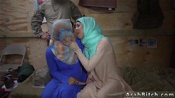 hard trio arab Husband eating messy cream soaked panties