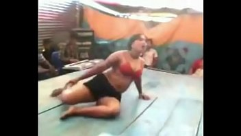 girl on from record village dance andhra open stage Acteress haniska bathing